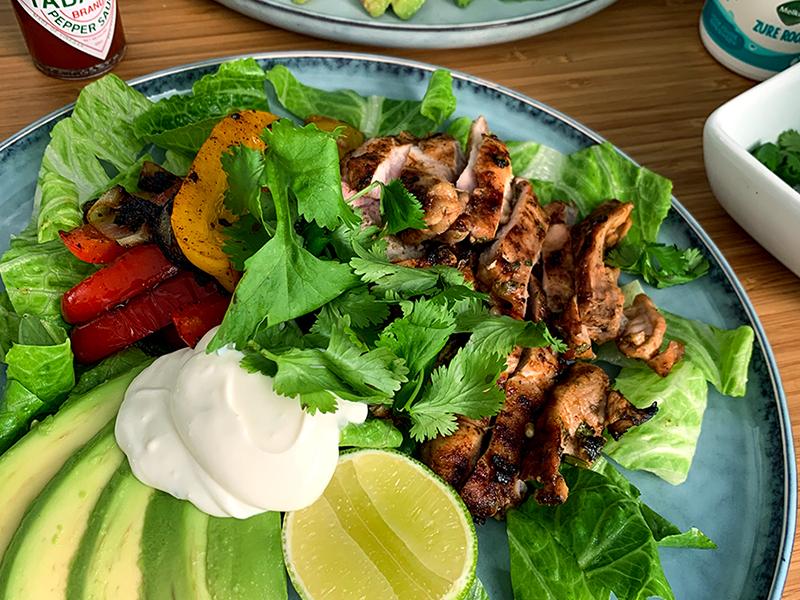 Tex-Mex fajita salade