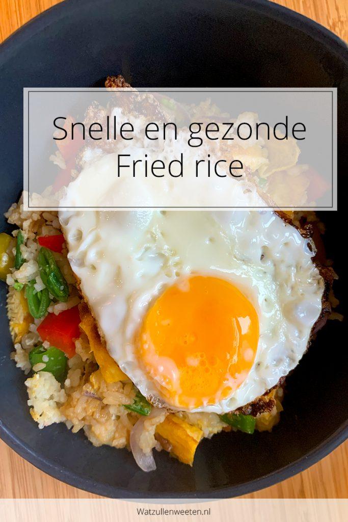 Fried rice - gebakken rijst