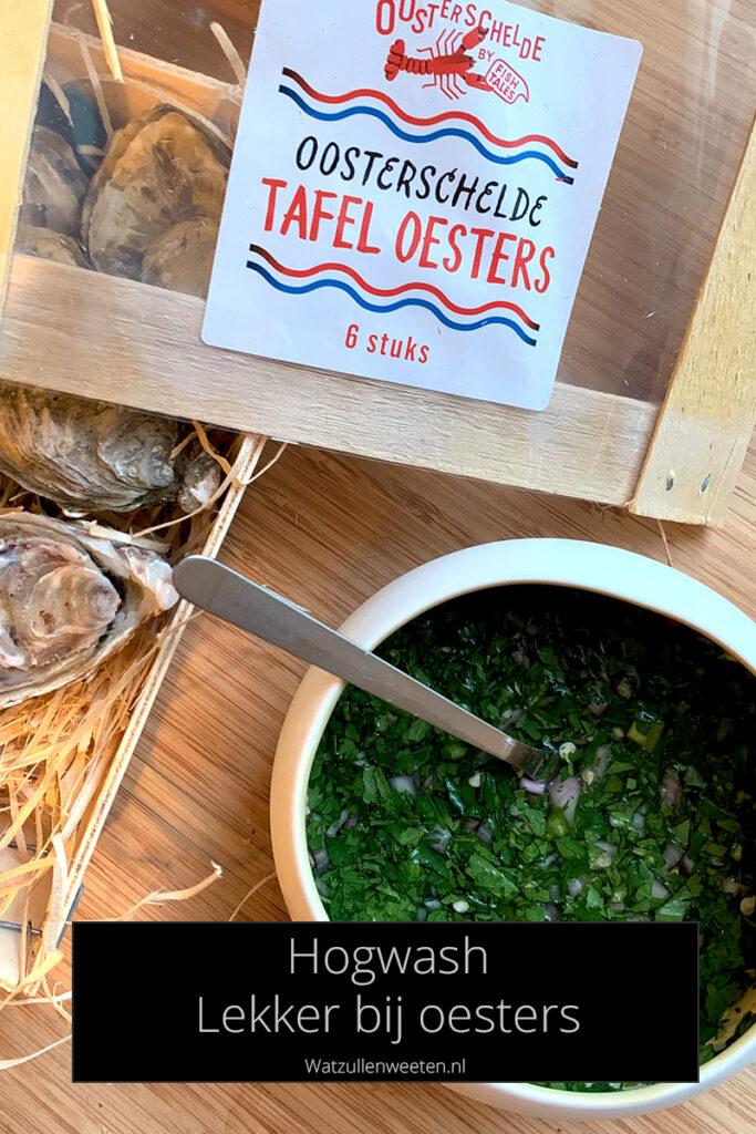 Hogwash topping voor bij oesters