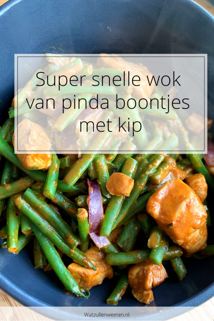 Pinda boontjes met kip