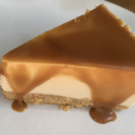 No bake Cheesecake met gezouten karamel