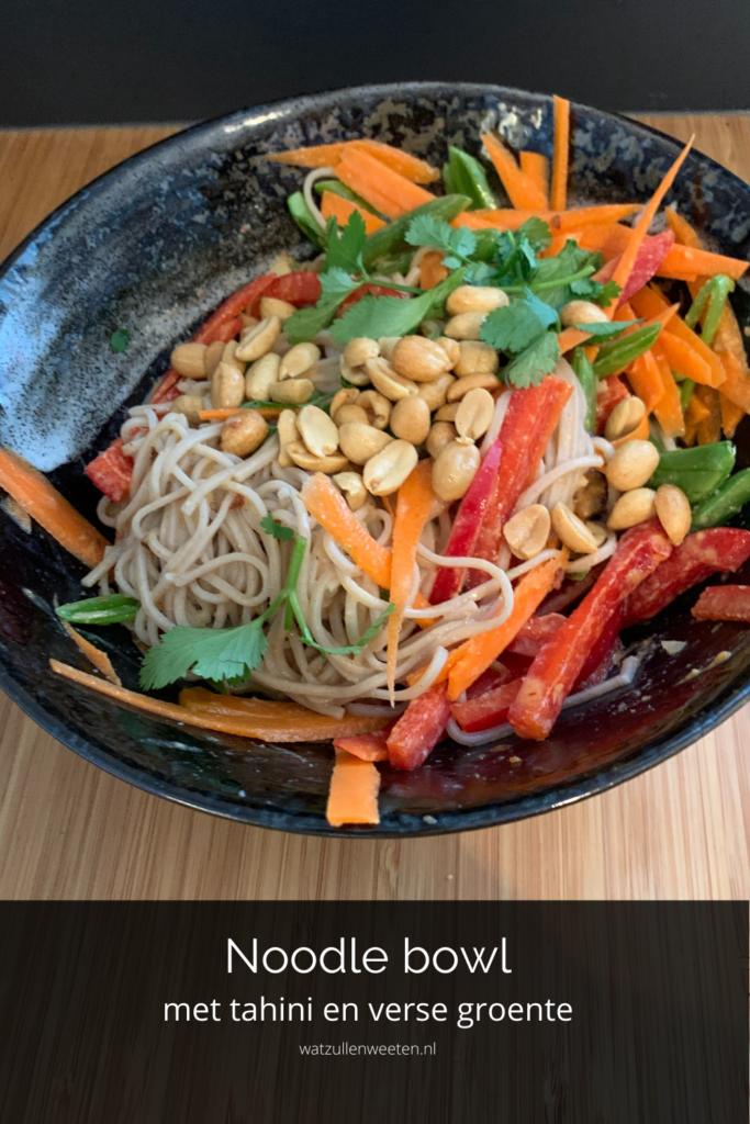 Noodle bowl met tahini